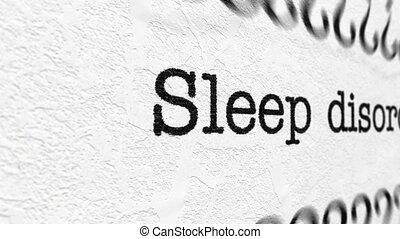 Sleep disorder concept