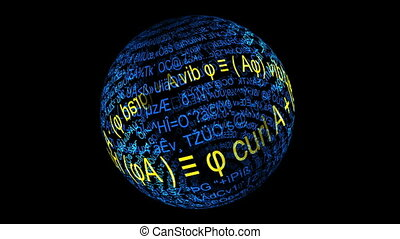 Mathematical Formulary Imprints On A Sphere