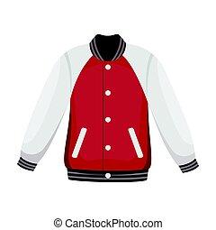 Uniform baseball jacket. Baseball single icon in cartoon...