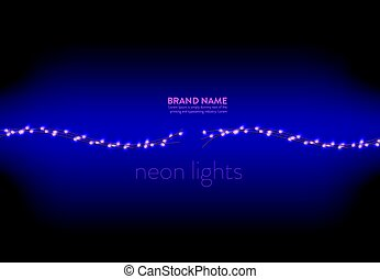 Vector illustration of a purple background with a several...
