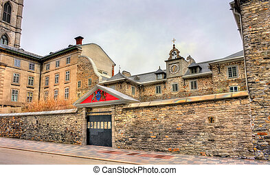 The Old Saint-Sulpice Seminary in Montreal, Canada - The Old...