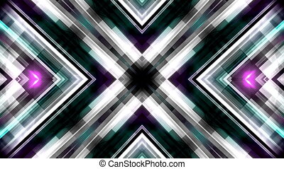 Streaks of color X animated CG background - X shaped streaks...