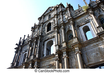 Cathedral of Saint Paul in Macao (Sao Paulo Church at day