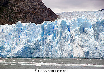 San Rafael Glacier, Patagonia, Chile - Details of the front...
