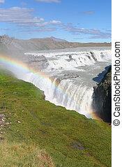 Waterfall Gulfoss Iceland