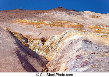 Namafjall, montagna di zolfo - Upstream of sulfur near...