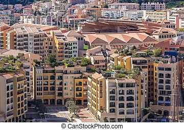 Monaco Fontvieille cityscape Monte carlo French Riviera