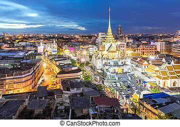 Bangkok Chinatown Temple - Wat trimitre, Golden Buddha...