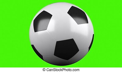 3d soccerball at a chroma key background - 3d render...