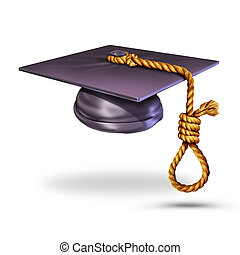 Education Suicide - Education suicide concept and learning...