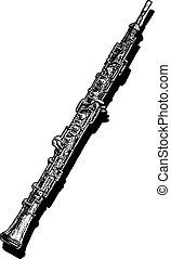 illustration of oboe - Vector hand drawn illustration of...
