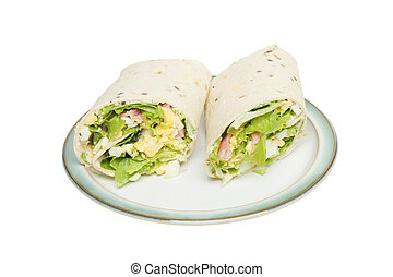 Bread wraps on a plate