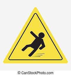 Beware of slippery, caution wet floor - vector