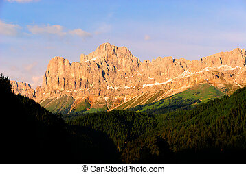 Rosengarten Latemar at sunset - Dolomites Rosengarten...