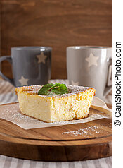 appetizing cottage cheese casserole and cups - appetizing...