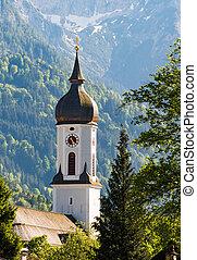 Church of Garmisch in Bavaria - Church of Garmisch in the...