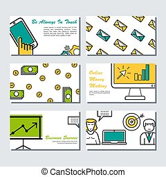 Six card template - business banners