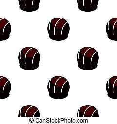 Chocolate candy pattern seamless background in flat style...