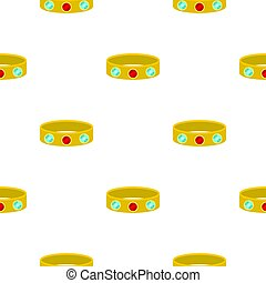 Vintage gold bangle pattern seamless background in flat...