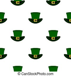 Green top hat with buckle pattern seamless