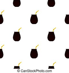 Chimarrao for mate or terere pattern seamless background in...