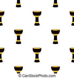 Darbuka musical instrument pattern seamless - Darbuka,...