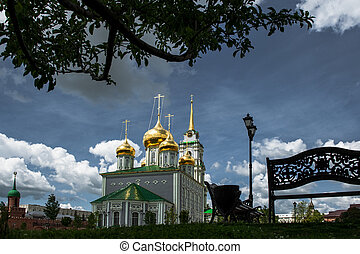 Uspensky Cathedral and the Tower of the Tula Kremlin, Russia