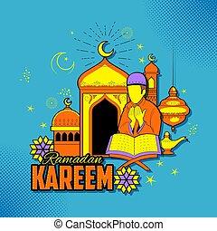 People wishing Ramadan Kareem Generous Ramadan for Islam...