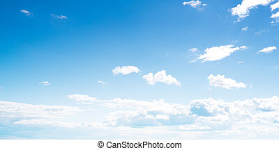 Clear sky and clouds background