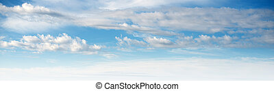 Sky ultramarine clouds. Natural summer day landscape