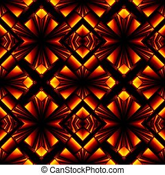 elegant seamless pattern of stained glass or chrome -...