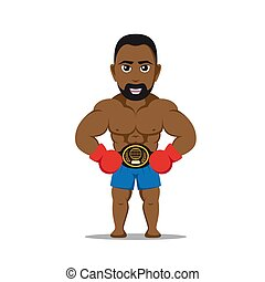 boxer fighter character - picture a strong athlete man with...