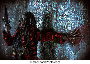 dead zombie pirate - Pirate a drowned man, Hellraiser....