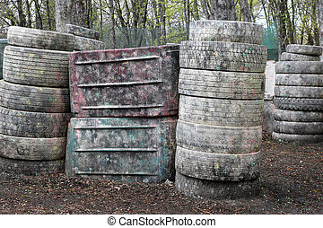 old automobile tires for paintball