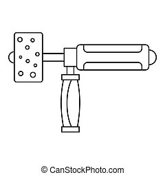 Precision grinding machine icon outline