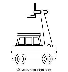 Cherry picker icon outline - Cherry picker icon in outline...