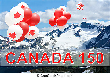 Canada day balloons - Canada day Maple leaf balloons...