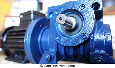 Electric motor in laboratory - Big blue electric motor...