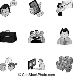 A set of pictures about the transaction, work, office....
