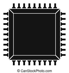 Computer microchip icon simple