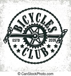 vintage logo design - Vintage bicycles club logo design,...