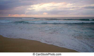 North Shore Oahu Hawaii Pacific Ocean Surf Sunset - Surf...