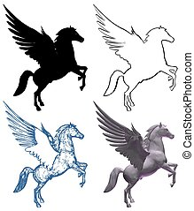 Pegasus Horse With Wings Vect... - Pegasus Horse With Wings...