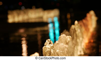 A close up shot of a fountain.