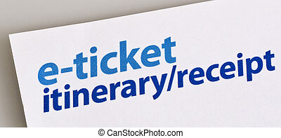 E-ticket Itinerary Receipt - Image of an e-ticket itinerary...