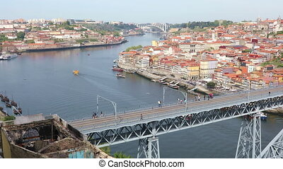 Panoramic view of Porto city, Portugal - Panoramic view of...