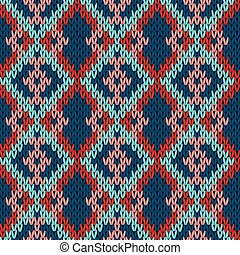 Knitting variegated seamless pattern - Knitting variegated...