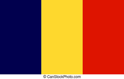 Andorra; Chad - Andorra and Chad flags