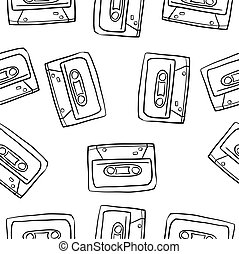 Doodle musical instrument theme collection