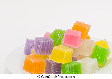 Colorful sweetness jelly candy . - Colorful sweetness jelly...